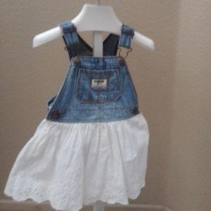 Oshkosh Baby Girl Denim Skirted Overall